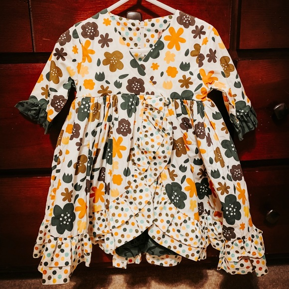 Jelly The Pug Other - JELLY THE PUG ~ FALL FLORAL DRESS ~ Size 18 Months